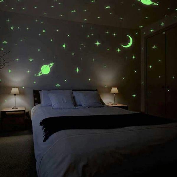 Decoração de quarto das ''Galáxias''.