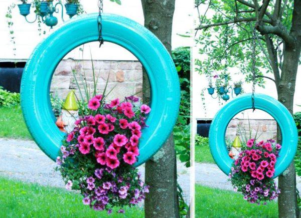 uma bela decoração de jardim