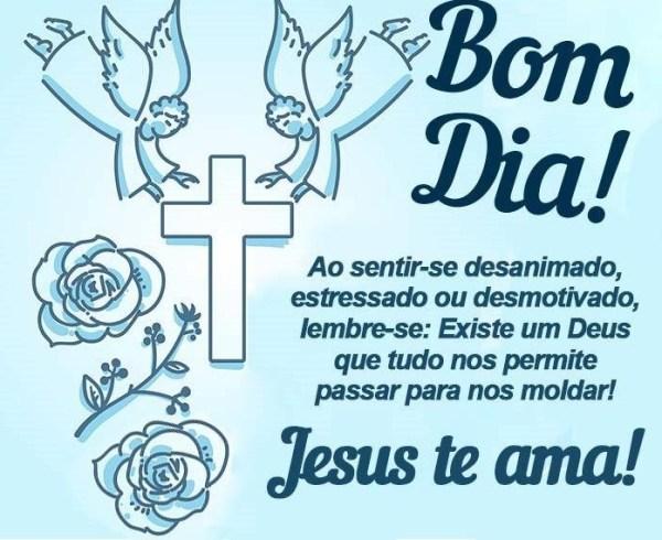 bom dia abençoado por Jesus