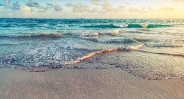 Imagem perfeita da paisagem do mar.