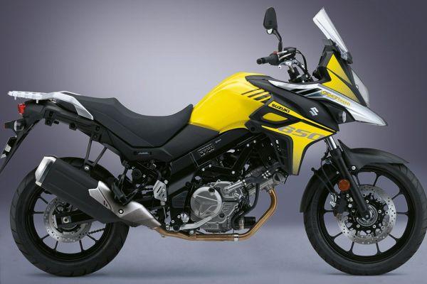 moto potente amarela