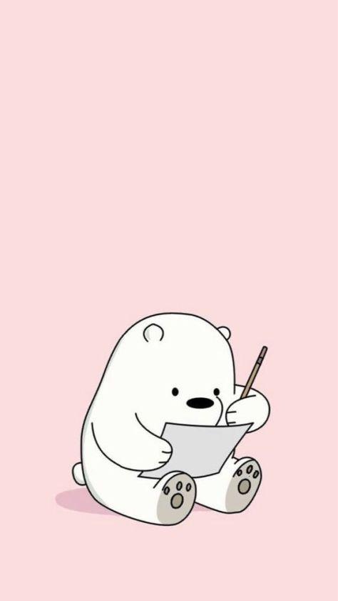 desenho do pandinha sentado com o papel.