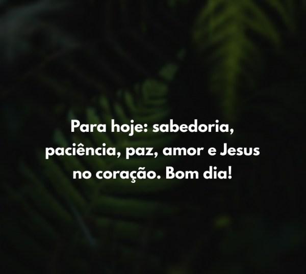 abençoado bom dia Jesus