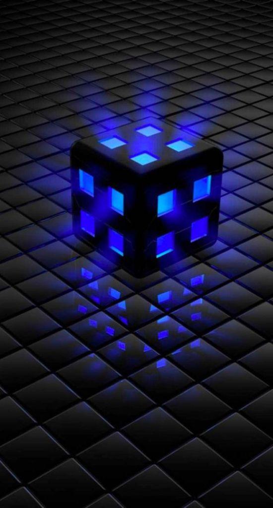 wallpaper dado com luz azul