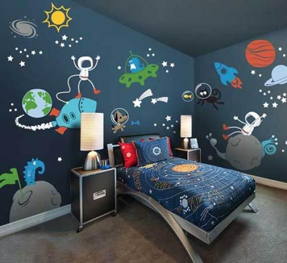 Tema de quarto da ''Galáxia'' para menino.
