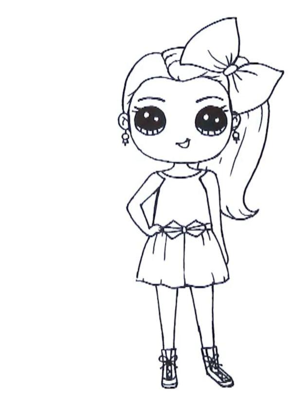 Desenho menino com laço tumblr kawaii