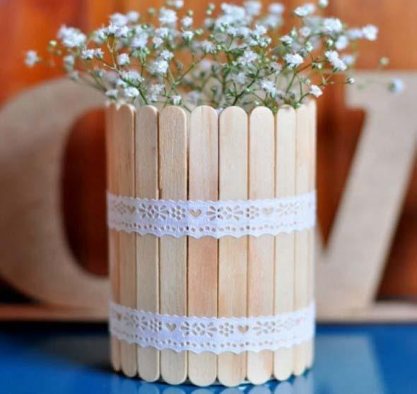artesanato com palitos de picolé
