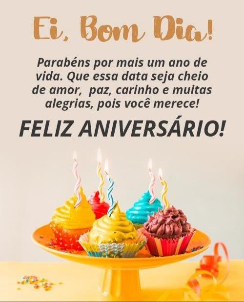 bom dia feliz aniversario