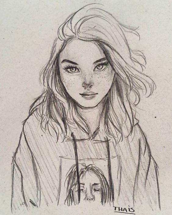 desenho realista  jovem