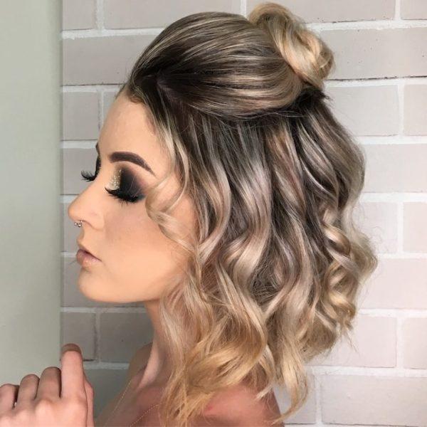 Penteado no cabelo médio