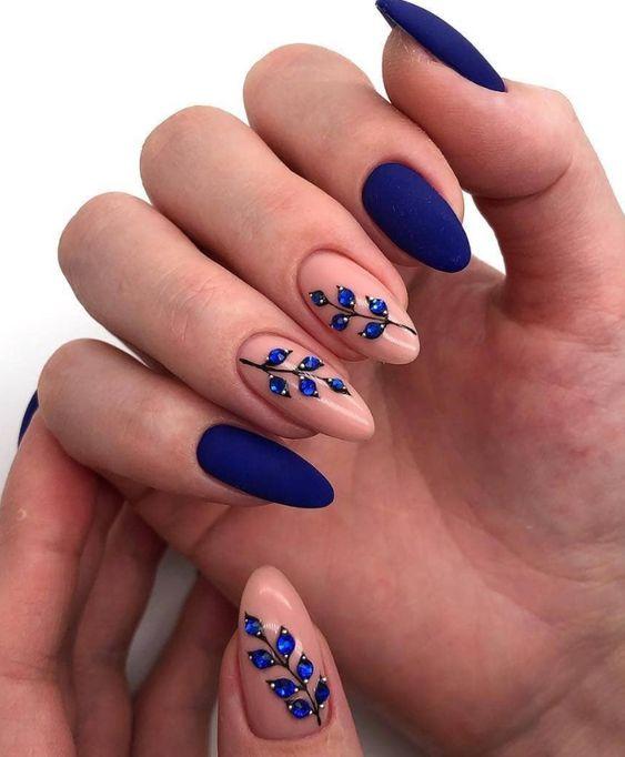 Unha tendência azul.