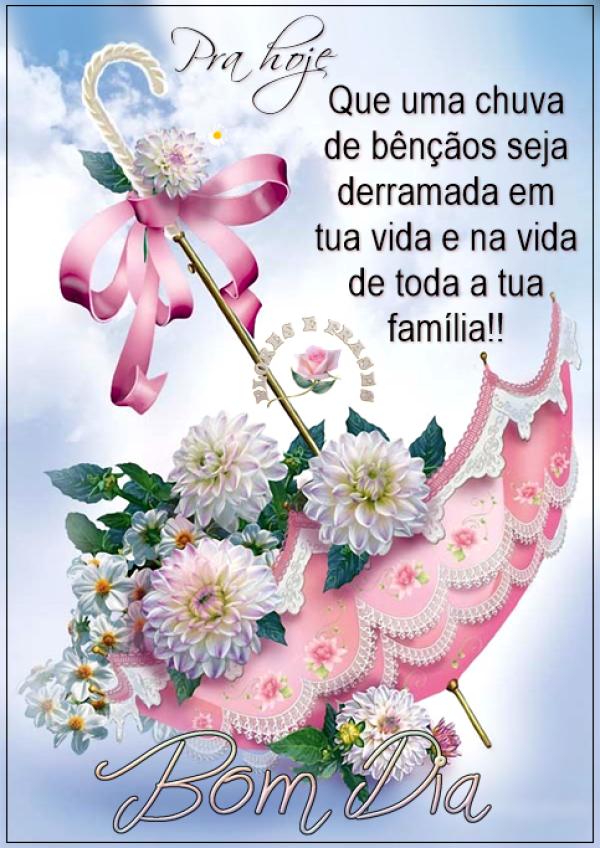 Bom dia com flores e bênçãos