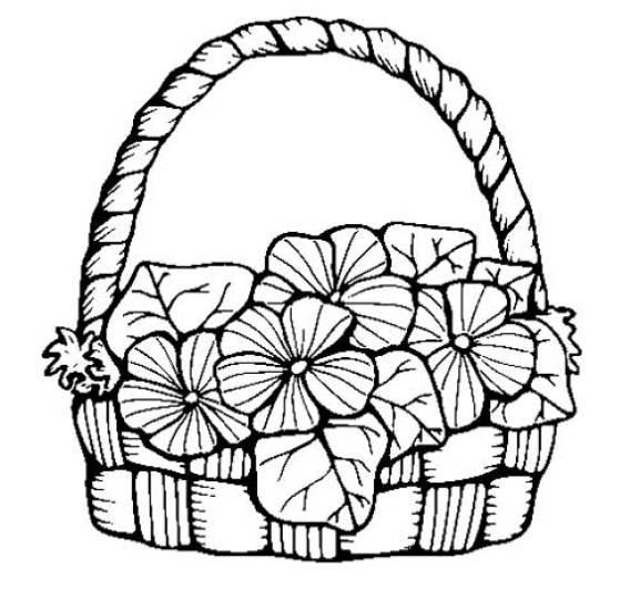desenho de cesta de flores