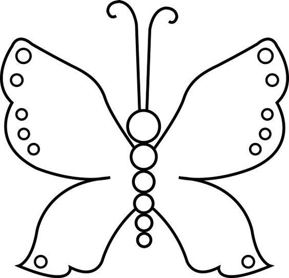 Imgem para colorir de borboletas