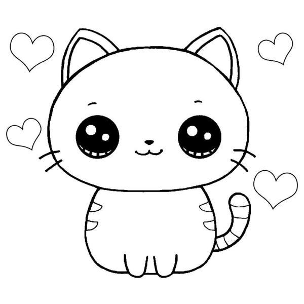 Colorindo imagens de gatinho