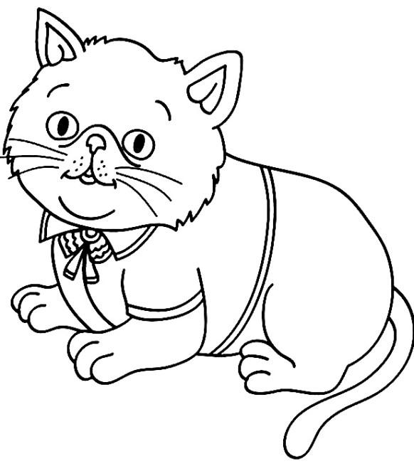 Desenhos de gato para crianças infantil
