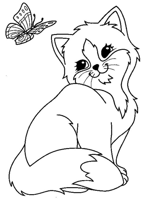 Gatinhos para imprimir e pintar