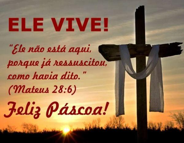 Feliz páscoa cristãos