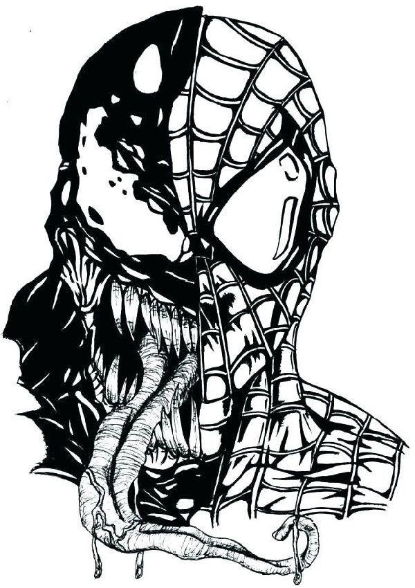 suas faces Desenhos do Homem aranha