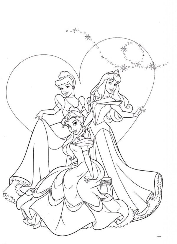 Imagens de princesa para desenhar e se divertir