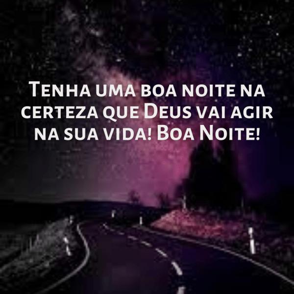 boa noite com Deus agir