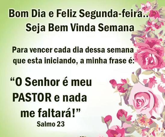 Bom dia Segunda-feira com Salmo