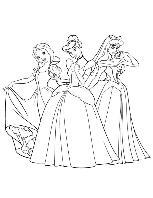 Desenhos lindos de princesas para pintar