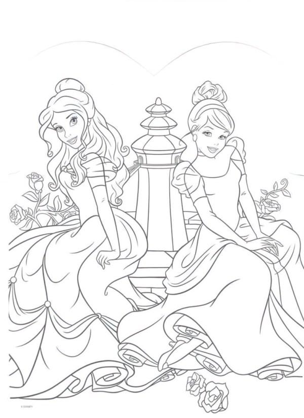 Desenho de duas princesas