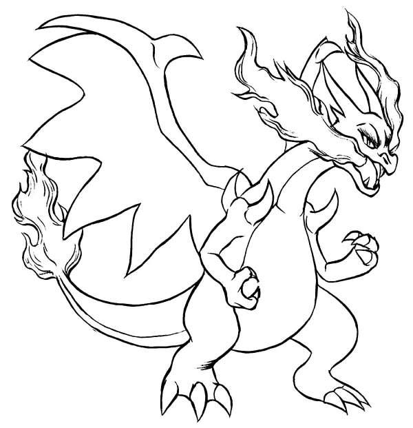 Desenho de pokémon charizard