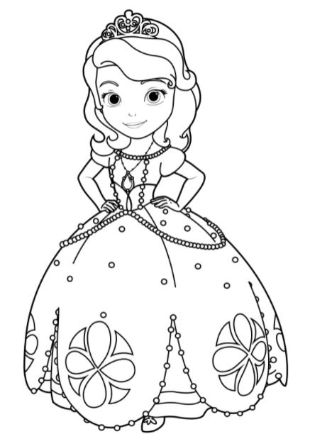 Desenhos para imprimir de princesas
