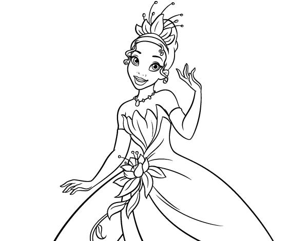 Princesa desenho lindo da Tiana