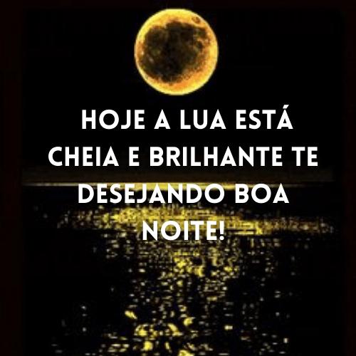 boa noite lua cheia, estrelas e astros