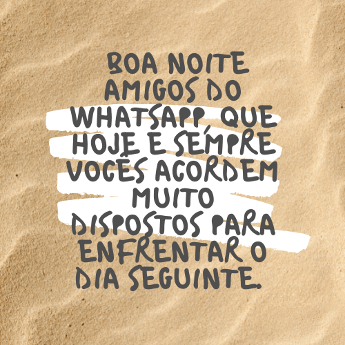 boa noite para whatsapp seguir