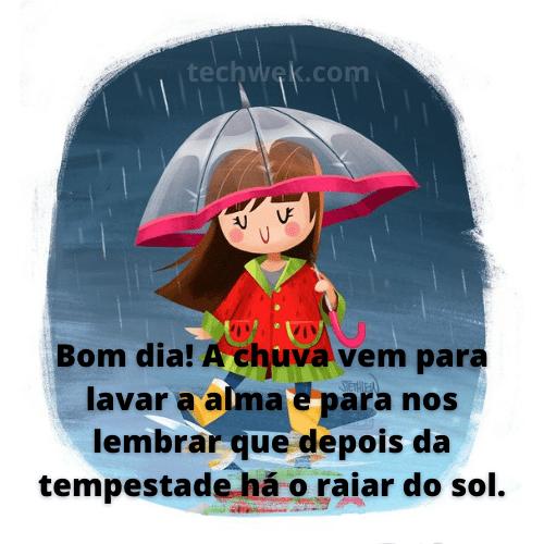 imagens de bom dia na chuva