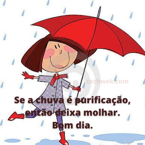 bom dia com frases de chuva