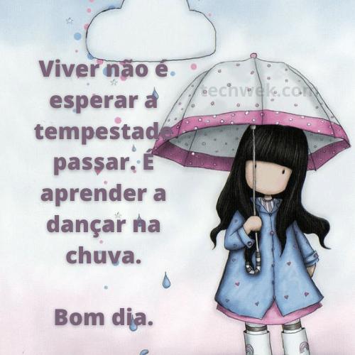 frases com imagens de bom dia chuva