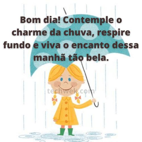imagem de frases de bom dia com chuva