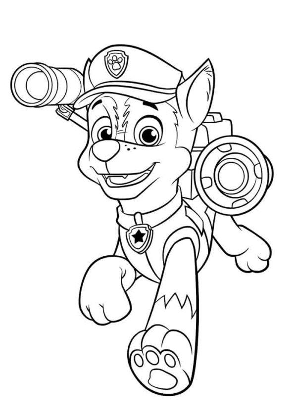 Desenhos da Patrulha Canina ação