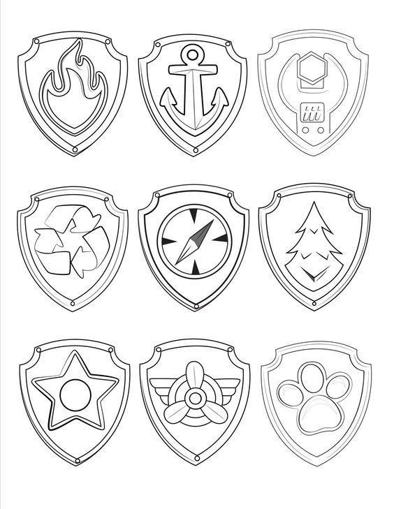 simbolos da Patrulha Canina