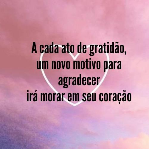 Imagem como frase  de gratidão louvar a Deus pelas bênçãos recebidas