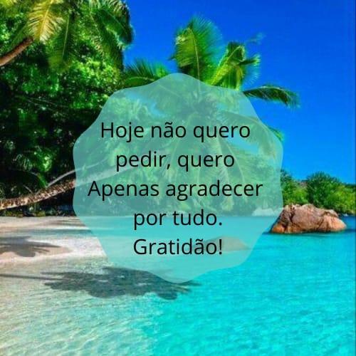 Gratidão a Deus pelas bênçãos recebidas em sua vida
