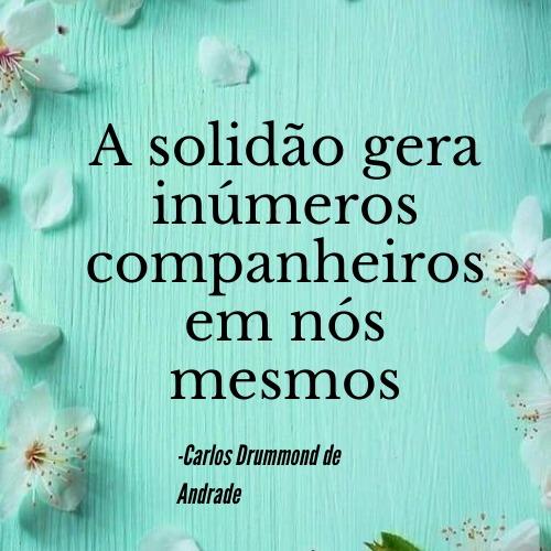 Frase para se aventurar lendo poesias de Carlos Drummond de Andrade