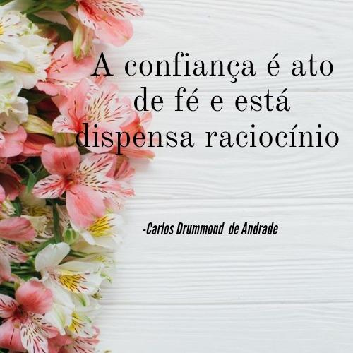 Frase linda de Carlos Drummond de Andrade para ler e se aventurar