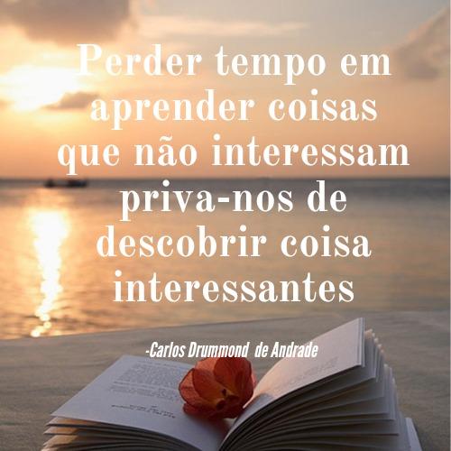 Frase de Carlos Drummond de Andrade para se divertir lendo suas poesias