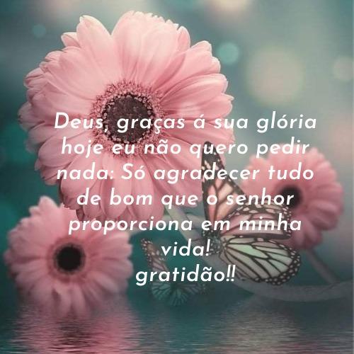 Frase para agradecer a Deus pelas bênçãos dadas