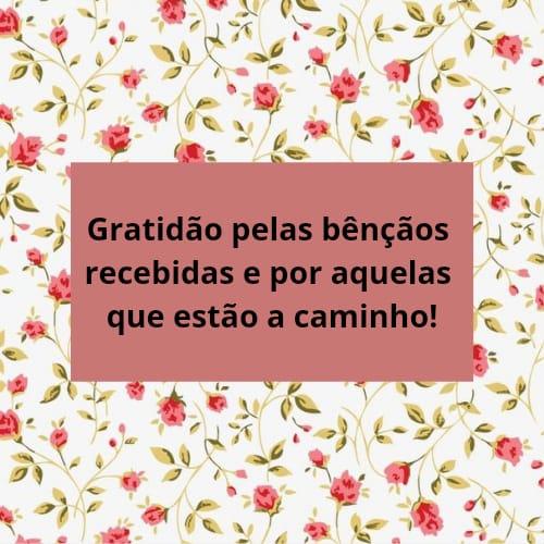 Frase de gratidão para agradecer pelas bênçãos