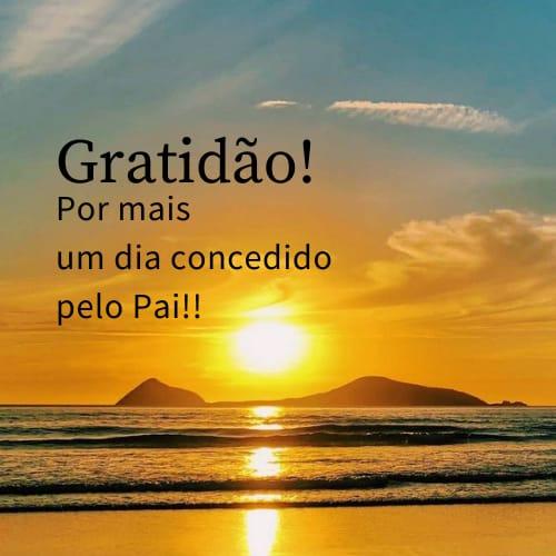 Frase com um lindo sol para agradecer pelas bênçãos