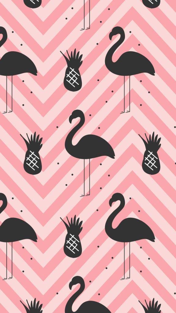 Papel de parede tumblr flamingos