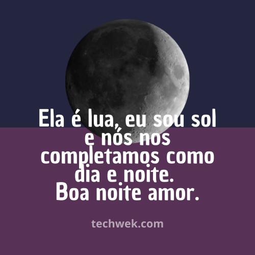frases de boa noie amor com lua