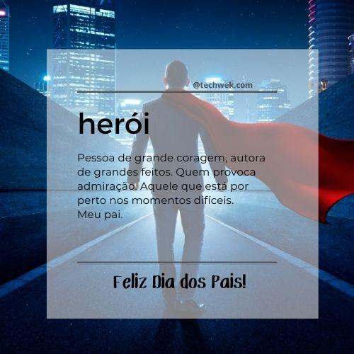 menagens de herói para dia dos pais
